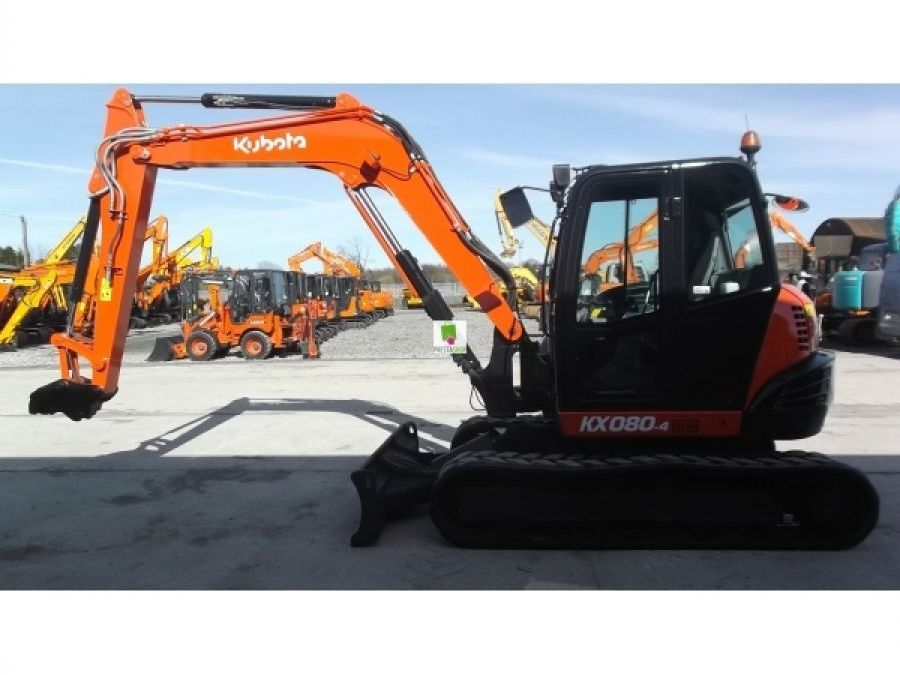 Used Excavator 2015 Kubota KX080 for Sale - 4