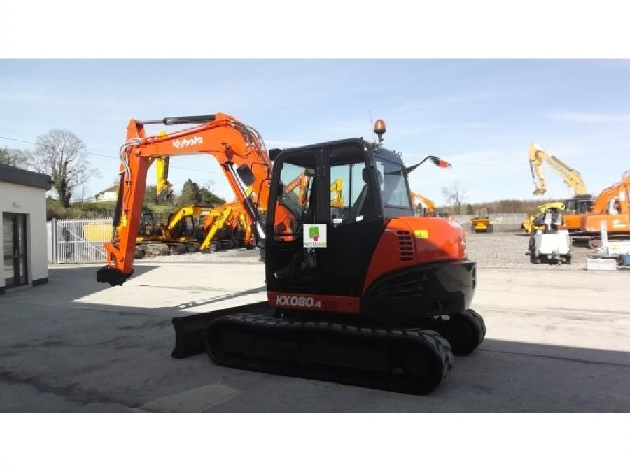 Used Excavator 2015 Kubota KX080 for Sale - 2